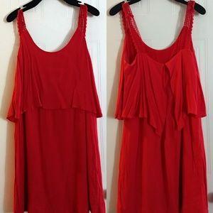 Maeve Red Sundress. Size 8